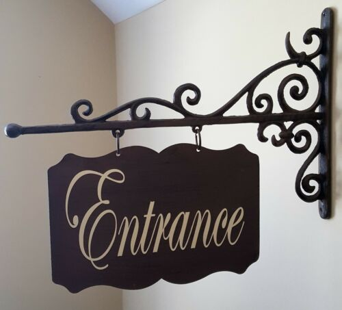 8x12 Custom Large Rectangular Shaped Metal Door Sign and Bracket