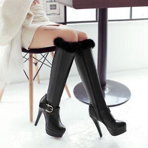 Talons Bottes Comme Cm Talon Cuisse Femme Noir Aiguilles 12 Confortable 5 Chaud tTaHTqw