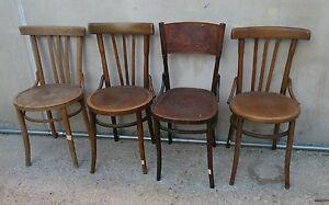 Sedie In Stile Thonet.Dettagli Su Eccezionale Lotto Di 4 Sedie Primo 900 Stile Thonet In Legno Curvato