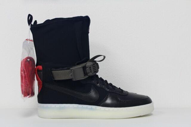 Nike AF1 Downtown Hi SP Acronym Air Force 1 One 649941 006 Black Crimson Sz 6.5