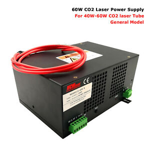 Details about MCWlaser 60W CO2 Laser Power Supply 220V for 60W CO2 Tube &  40W 50W 60W Engraver