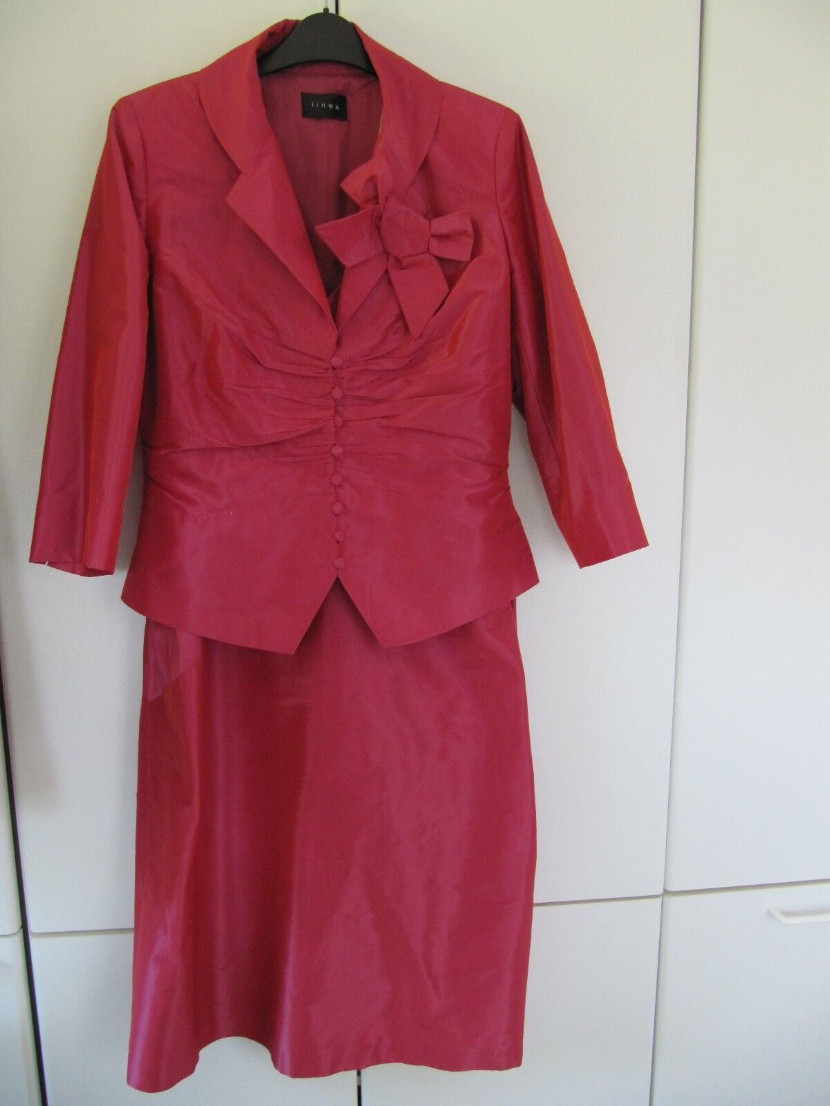MOB Linea Deep Raspberry Pink Dress & Jacket - Size 14 - New with tags