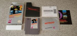 Metroid-Nintendo-NES-Game-Samus-Complete-CIB-w-Box-Poster-amp-Manual-Lot-TESTED