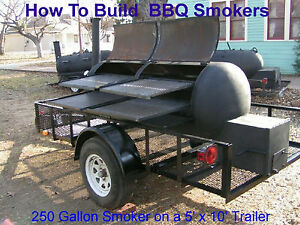 how to build any size bbq smoker plans cd w recipes 731882439397