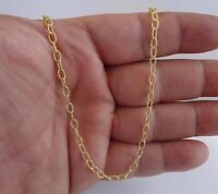 18k Yellow Gold Overlay/over 925 Sterling Silver Loop Style Chain/ Made In Italy