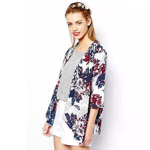 Kimono Manteau Mousseline Veste Cardigan Tops De Printed Soie YIB7w