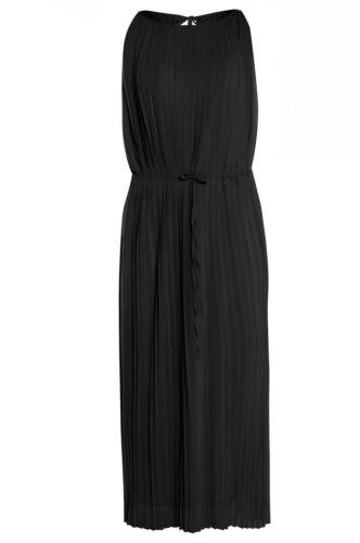 Womens tie Nero stile Vestito da Pieghe Size string con cintura Plus plissettato Grecian rwOrRpgA