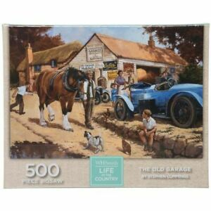 WHSmith-Life-In-The-Country-The-Old-Garage-500-Piece-Jigsaw-Puzzle-49-x-34-3-cm