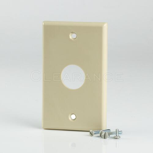 Ivory Single-Gang Wireport Cable Pass Through Wall Plate  1-Gang 5//pk