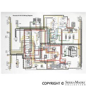 Full Color Wiring Diagram, Porsche 911 (64-68) | eBay
