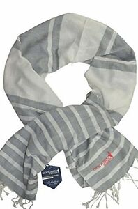 78115ce03a3a Image is loading Scarf-tagelmust-scarf-keffiyeh-white-and-grey-striped-