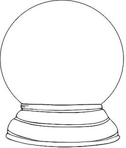Snow-Globe-Unmounted-Rubber-Stamp-7129