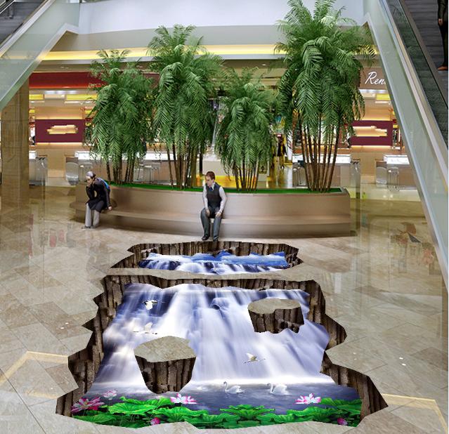 3D Wasserfall 533 Fototapeten Wandbild Fototapete Tapete Familie DE Lemon