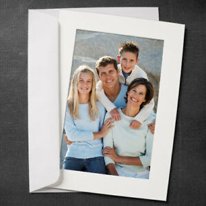 Details About Simplicity Photo Insert Greeting Cards Snow White 10 Pack