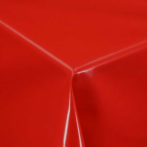 Image is loading PLAIN-SOLID-RED-LUXURY-PVC-OIL-VINYL-TABLE- & PLAIN SOLID RED LUXURY PVC OIL VINYL TABLE CLOTH PROTECTOR COVER ...