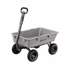 Gorilla Carts 800 Pound Capacity Poly Yard Dump Utility Cart Gray Used