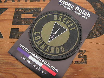 "SNAKE PATCH /"" BREVET COMMANDO /"" OD BELGIQUE ABL DAGUE PARA CODO vétéran Belge"