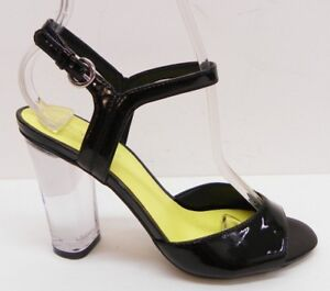 bfd7689cad9 Nine West Shoe Phishin Open Toe Ankle Strap Clear High Heel Sandal ...