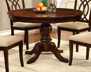 Furniture Of America Cm3778rt Brown Cherry Finish Round