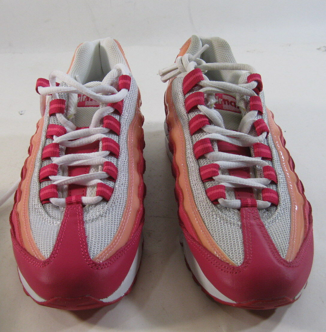 Nike Air Max '95 Le (Gs) Girls Girls Girls Running shoes 310830-166 White -Cherry Size 5Y 132b69