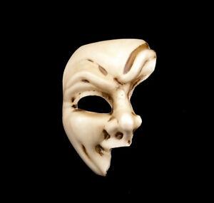 Maschera Di Venezia Fantasma Carnevale Bianco Ecru Originale Autentica V3 871