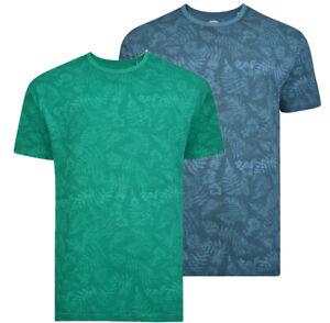 Mens-KAM-BIG-Fashion-T-Shirt-Floral-Short-Sleeve-Casual-Cotton-Rich-Summer-2-8XL