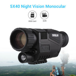 5 X 40 8gb Télescopes Jumelle Monoculaire Infrarouge Dark Night Vision Chasse