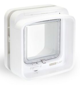 SureFlap-Dual-Scan-Microchip-Cat-Flap-White-Selective-Entry-amp-Exit-Genuine