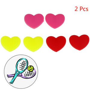 2-Pcs-Heart-Silicone-Tennis-Racket-Shock-Absorber-Damper-Reduce-Vibrat-PL
