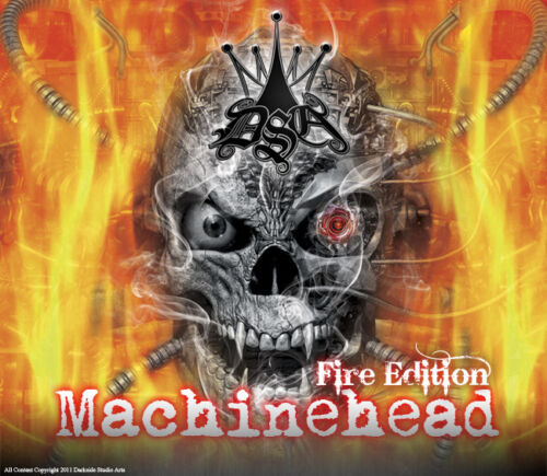 """CAN-AM RENEGADE DECAL GRAPHICS KIT /""""MACHINEHEAD/"""" FIRE EDITION SKULLS"""