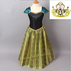 Girl Frozen Dress Princess Anna Costume Party Birthday Dress size: 1-10 years