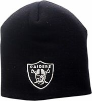 Oakland Raiders Skull Knit Hat Logo Block 12285