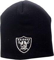 Oakland Raiders Skull Knit Hat Logo Block 12285