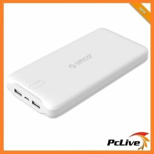 NEW-Orico-LD200-20000mAh-Portable-Power-Bank-Charge-iPhone-iPad-Tablet-USB-White