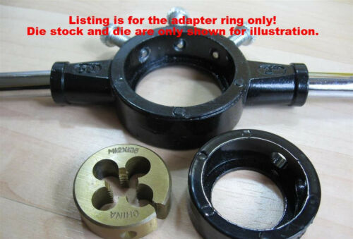 """Dies in 2/"""" 50mm Die Stock #T11D 38mm NEW Reducer Adapter Ring for 1-1//2/"""""""