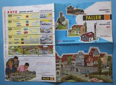 GüNstiger Verkauf 1965 Modellbau Faller Ho N + Ams Prospekt Preise In ös Spielwaren Herold Wien