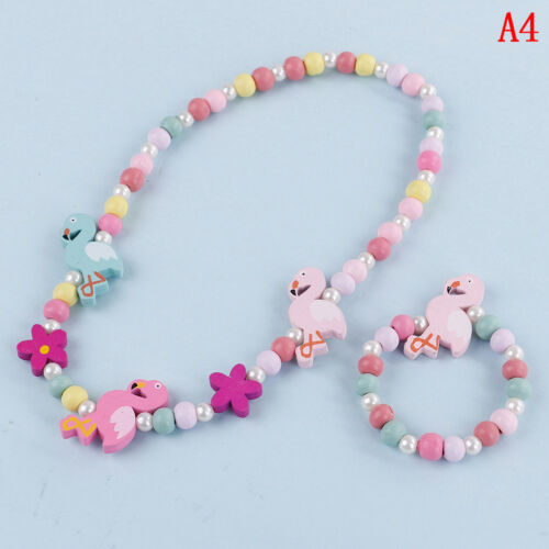 Kids children cartoon beads necklace jewelry girls gift new.