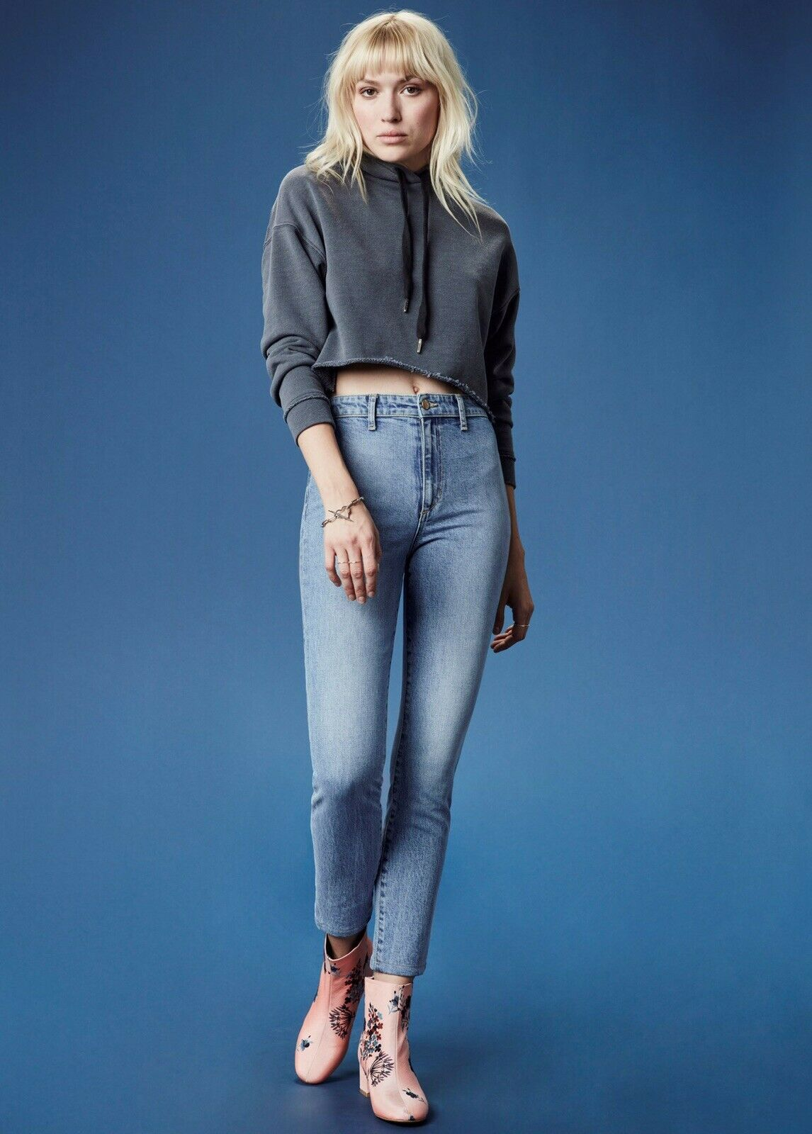 Joe's Jeans X Taylor Hill 'The Charlie' High-Rise Skinny Ankle Jeans - Size 31