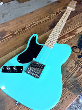 LEFTY SEAFOAM GREEN LEFT HANDED SNAKEHEAD TELE STYLE 6 STRING ELECTRIC GUITAR