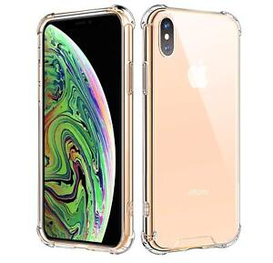 Clear PC Back Shell + Shockproof TPU Bumper Case For iPhone 7 8 Plus X XR XS MAX