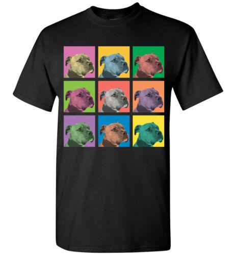 Pit Bull Dog Pop-Blocks T-Shirt Men Women Youth Tank Long Tee American Terrier