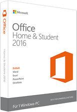 MS Office Home & Student 2016 für PC Vollversion Deutsch Multilingual Key