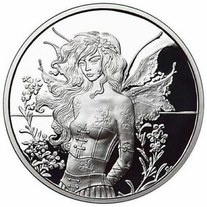 Amy-Brown-Collection-1oz-Wall-Flower-Fairy-999-Fine-Silver-Proof-Round-COA