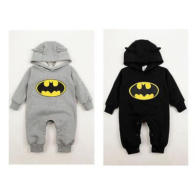 New Newborn Boy Clothes Baby Batman Hoodies Infant Romper Clothes 3-24Months