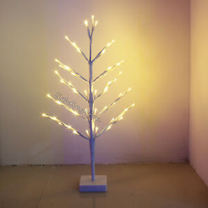60cm Snowy Twig Tree Branch LED Christmas Battery Pre-Lit Birch ...