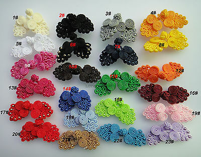 5pairs Chinese Frog Knot Button bead closure sewing handmade 6-7cm 23color pick
