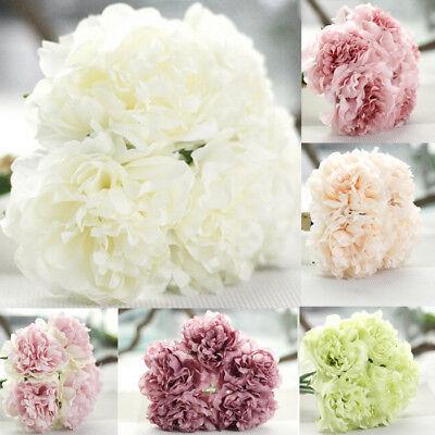 Artificial Silk Fake Flowers Peony Wedding Bridal Bouquet Hydrangea Home Decor