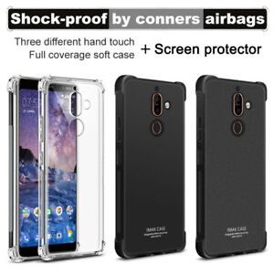 hot sale online 1bc68 c4c03 Details about IMAK For Nokia 7 Plus Full Cover Slim Shockproof Clear Matte  Soft TPU Back Case