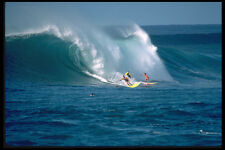 300075 Late afternoon surf session Sunset Beach Hawaii A4 Photo Print