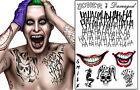 The Joker Temporary Tattoos Suicide Squad Costume Halloween Fancy Dress Batman